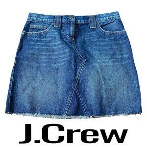 J. Crew Blue Denim Jean Skirt Womens Size 28 Waist